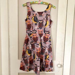 Folter Halloween Owls Dress